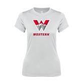 Ladies Syntrel Performance White Tee-W Western
