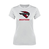 Ladies Syntrel Performance White Tee-Mad Jack Western