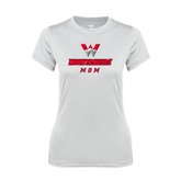 Ladies Syntrel Performance White Tee-Mom