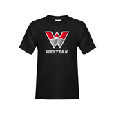 Youth Black T Shirt-W Western