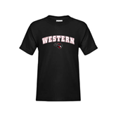 Youth Black T Shirt-Arched Western w/ Mad Jack