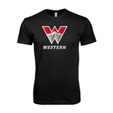 Next Level SoftStyle Black T Shirt-W Western
