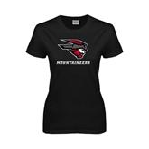 Ladies Black T Shirt-Mad Jack Mountaineers