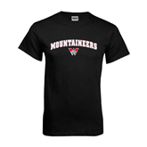 Black T Shirt-Arched Mountaineers w/ W