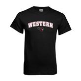 Black T Shirt-Arched Western w/ Mad Jack