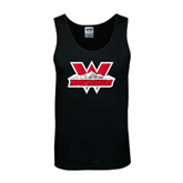 Black Tank Top-Interlocking W Mountaineers - Official Logo