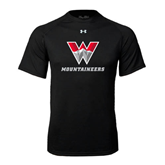 Under Armour Black Tech Tee-W Mountaineers