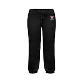 ENZA Ladies Black Banded Fleece Capri-W Western