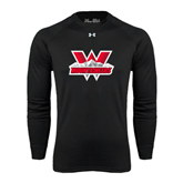Under Armour Black Long Sleeve Tech Tee-Interlocking W Mountaineers - Official Logo