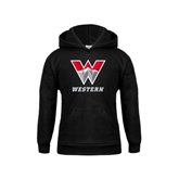 Youth Black Fleece Hoodie-W Western