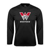 Syntrel Performance Black Longsleeve Shirt-W Western