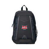 Impulse Black Backpack-Interlocking W Mountaineers - Official Logo