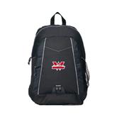 Impulse Black Backpack-Interlocking W Mountaineers - Official Logo