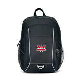 Atlas Black Computer Backpack-Interlocking W Mountaineers - Official Logo