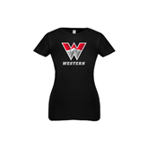 Youth Girls Black Fashion Fit T Shirt-W Western