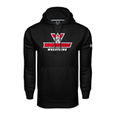 Under Armour Black Performance Sweats Team Hoodie-Wrestling