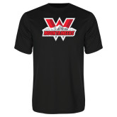 Syntrel Performance Black Tee-Interlocking W Mountaineers - Official Logo