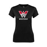 Ladies Syntrel Performance Black Tee-W Western