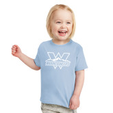 Toddler Light Blue T Shirt-Interlocking W Mountaineers - Official Logo