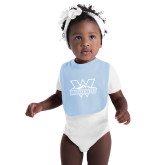 Light Blue Baby Bib-Interlocking W Mountaineers - Official Logo