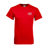 Red T Shirt-Interlocking W Mountaineers - Official Logo