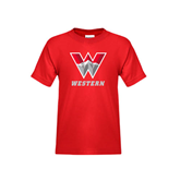 Youth Red T Shirt-W Western