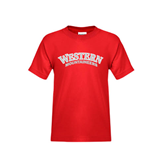 Youth Red T Shirt-Arched Western Mountaineers