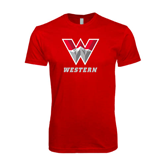 Next Level SoftStyle Red T Shirt-W Western