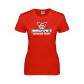 Ladies Red T Shirt-Climbing Team