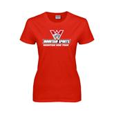 Ladies Red T Shirt-Mountain Bike Team