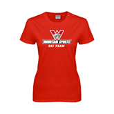 Ladies Red T Shirt-Ski Team