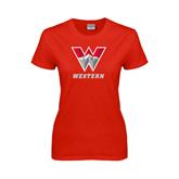 Ladies Red T Shirt-W Western