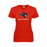 Ladies Red T Shirt-Mad Jack Mountaineers