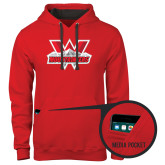 Contemporary Sofspun Red Hoodie-Interlocking W Mountaineers - Official Logo