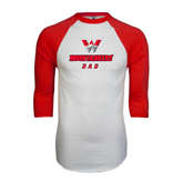 White/Red Raglan Baseball T-Shirt-Dad