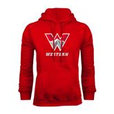 Red Fleece Hoodie-W Western