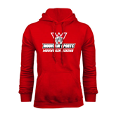 Red Fleece Hoodie-Mountain Biking