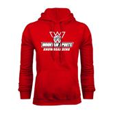 Red Fleece Hoodie-Snowboarding