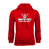 Red Fleece Hoodie-Trail Running