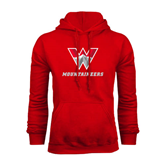 Red Fleece Hoodie-W Mountaineers