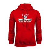 Red Fleece Hoodie-Climbing Team