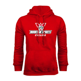 Red Fleece Hoodie-Cycling
