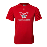 Under Armour Red Tech Tee-W Mountaineers
