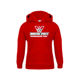 Youth Red Fleece Hoodie-Snowboarding