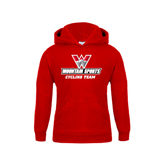 Youth Red Fleece Hoodie-Cycling Team