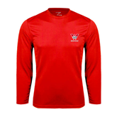 Performance Red Longsleeve Shirt-W Western
