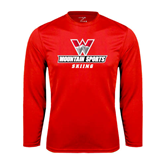 Performance Red Longsleeve Shirt-Skiing