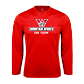 Performance Red Longsleeve Shirt-Ski Team
