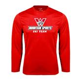 Syntrel Performance Red Longsleeve Shirt-Ski Team