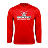 Syntrel Performance Red Longsleeve Shirt-Snowboarding